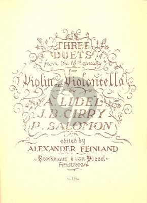 3 Duets from the 18th Century Violin and Violoncello