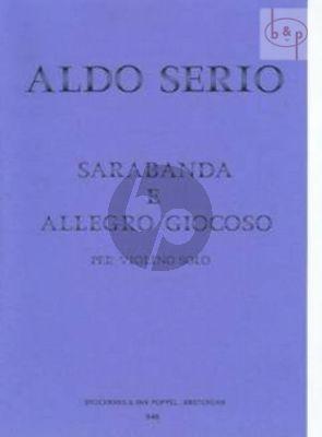 Sarabande and Allegro Giocoso Violin solo