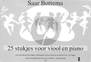 Bottema 25 Pieces for Beginners Vol.1 Violin - Piano