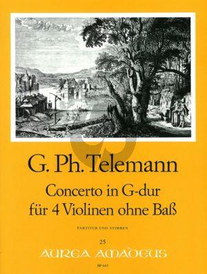Concerto G-dur TWV 40:201 (Part./St.)