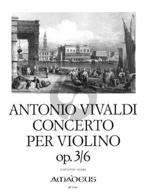 Vivaldi Konzert a-moll Op.3 No.6 RV 356 Violine-Streicher-Bc Partitur (Felix Forrer)
