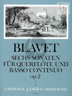 6 Sonaten Op.2 Vol.1 (No. 1 - 3 ) Flöte und Bc