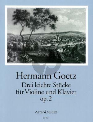 3 leichte Stücke Op.2 Violine - Klavier