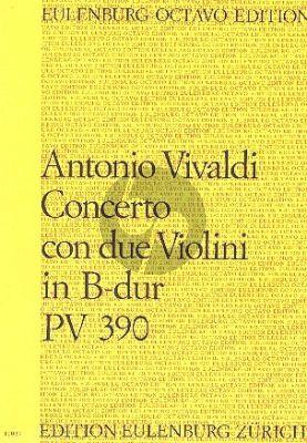 Vivaldi Konzert B-dur RV 524 (PV 390) 2 Violinen-Streicher-Bc Partitur (Berlasz)