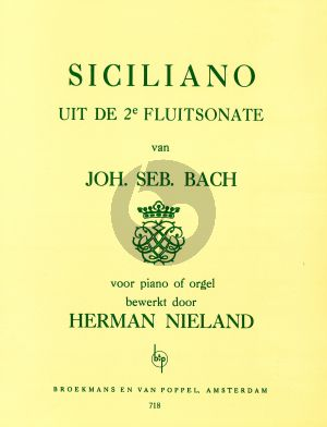 Bach Siciliano from Flute Sonata No.2 Piano Solo