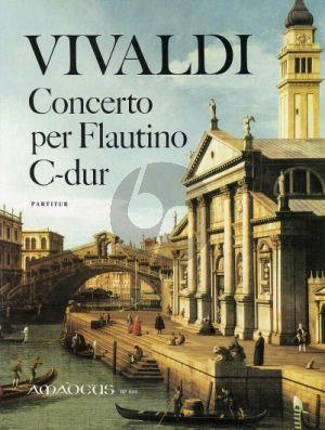 Vivaldi Concerto C-dur RV 443 (Op.44/11) Flautino(oder Altblockflöte)-Streicher-Bc Partitur (Winfried Michel)