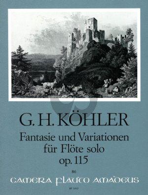 Kohler Fantasie und Variationen Op. 115 Flöte solo (Wolfgang Riedel)