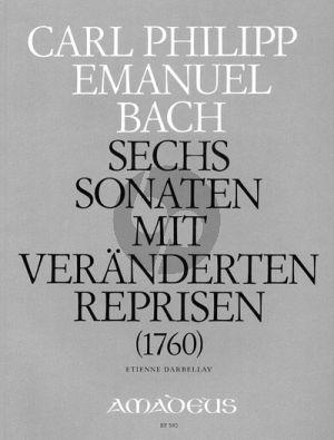 Bach 6 Sonaten mit veränderten Reprisen Wq 50 Clavier (Gebunden Ausgabe mit ausführlichem Vorwort) (Etienne Darbellay)