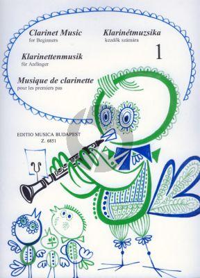 Clarinet Music for Beginners Vol.1 Clarinet[Bb]-Piano (edited by János Kuszing)