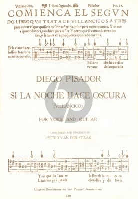 Pisador Si la Noche Hace Oscura (Villancico) Voice-Guitar (Pieter v.d Staak)