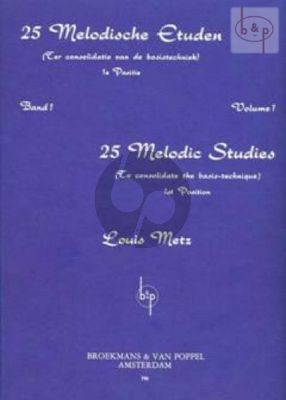 25 Melodic Studies Vol.1 Viool