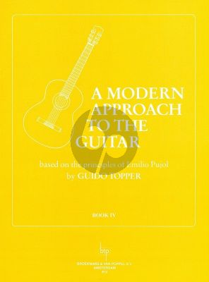 Topper Modern Approach to the Guitar Vol.4 (Based on the Principles of Emilio Pujol)