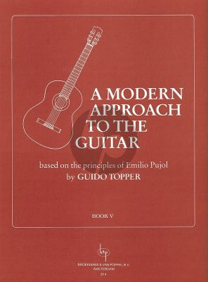 Topper Modern Approach to the Guitar Vol.5 (Based on the Principles of Emilio Pujol)