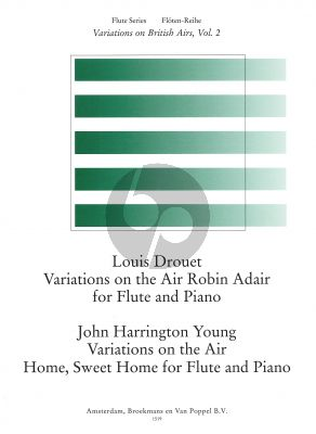 Robin Air and Home Sweet Home (Variations on British Airs Vol.2) (Drouet-Harrington Young) Flute-Piano