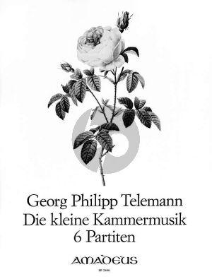 Telemann Die Kleine Kammermusik (6 Partiten) TWV 41:C1 , Es1 ,G2 ,g2 ,B1) Flute[Vi./Ob./Rec.]-Bc (edited by Willy Hess)