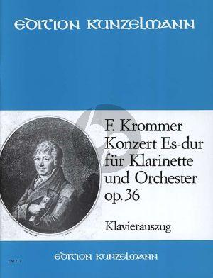 Krommer Konzert Es-dur Op.36 Klarinette und Orchester Klavierauszug (Melinda Berlász)