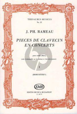 Rameau Pieces de Clavecin en Concert Vol.1 (Violon (Flute), Viole (Violoncelle ou 2. Violon) et Clavecin) (Zoltán Horusitzky)