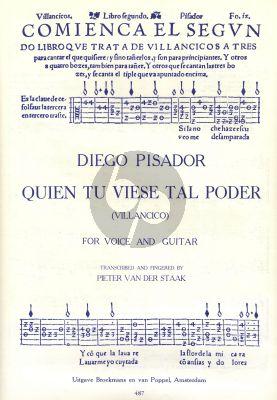 Pisador Quien tu Viese tal Poder (Villancico) Voice-Guitar (Pieter v.d Staak)