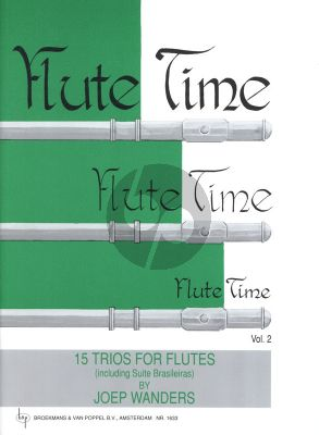 Wanders Flute Time Vol.2 (15 Trios including Suite Brasileiras) (Grade 2 - 3)