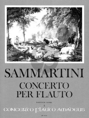 Sammartini Konzert F-dur Sopranblockflöte-Streicher-Bc (Partitur) (Winfried Michel und Jürgen Janotta)