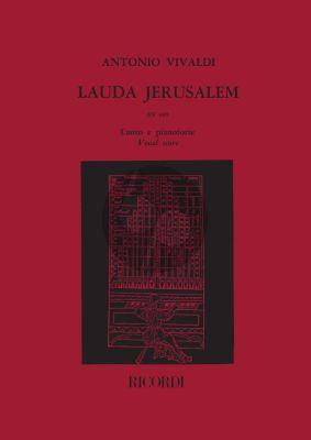Vivaldi Lauda Jerusalem (Salmo 147) RV 609 Soprano solo-SATB/SATB-Organ Vocal Score
