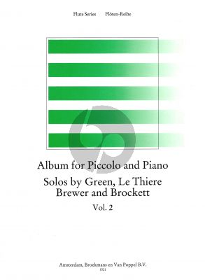 Album for Piccolo-Piano Vol.2 (Green. Le Thiere, Brewer and Brockett) (edited by Trevor Wye) (Grade 6-7)