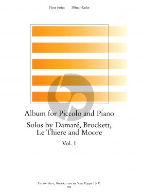 Album for Piccolo-Piano Vol.1 (Damare, Brockett, Le Thiere and Moore) (edited by Trevor Wye) (Grade 5-6)