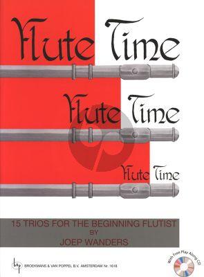 Wanders Flute Time Vol.1 (15 Trios Beginning Flutist) (Grade 1 - 2) (Bk-Cd)