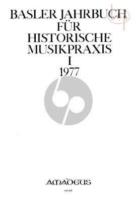 Jahrbuch fur Historische Musikpraxis Vol. 1: 1977