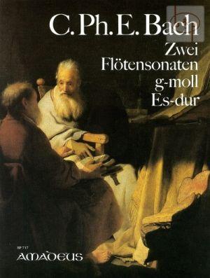 Bach 2 Sonaten Es-dur / g-moll BWV 1031 / 1020 Flöte und Bc (früher an J.S.Bach zugeschrieben) (Oskar Peter)