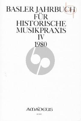 Jahrbuch fur Historische Musikpraxis Vol. 4: 1980