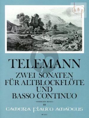 2 Sonaten d-moll und C-dur TWV 41:C5 ,d4 fur Altblockflote und Klavier