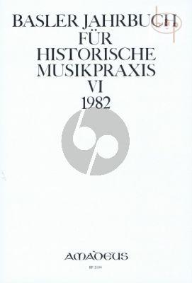 Jahrbuch fur Historische Musikpraxis Vol. 6: 1982
