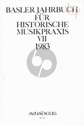 Jahrbuch fur Historische Musikpraxis Vol. 7: 1983