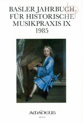Jahrbuch fur Historische Musikpraxis Vol. 9: 1985