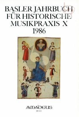 Jahrbuch fur Historische Musikpraxis Vol.10: 1986