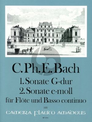 Bach Sonate No.1 G-dur (WQ 123) - Sonate No.2 e-moll (WQ 124) Flöte-Bc (Manfredo Zimmermann)
