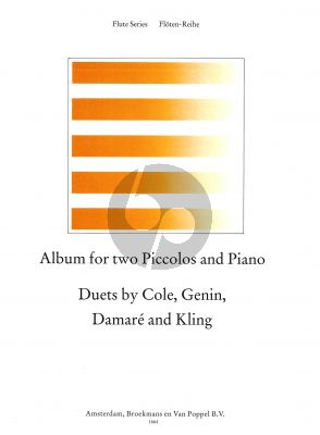 Album for 2 Piccolos-Piano (Cole-Genin-Damare and Kling) (edited by Trevor Wye) (Grade 4)
