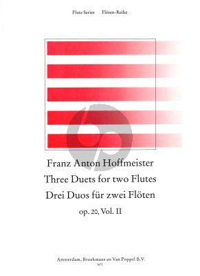 3 Duets Opus 20 Vol.2 2 Flutes (edited by Nikolaus Delius)