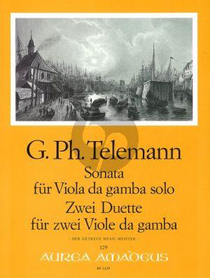 Telemann Sonata & 2 Duette TWV 40:1,107,111 (der Getreue Music-Meister) Viola da Gamba (Harry Joelson)