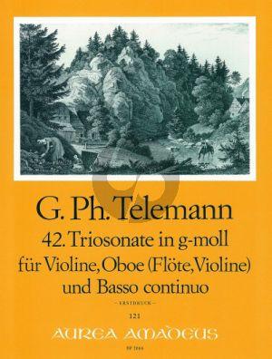 Telemann Trio Sonata g-minor TWV 42:g12 Violin-Oboe (Flute/Violin)-Bc (Score/Parts)