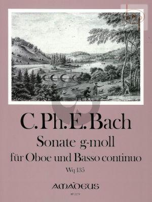 Sonate g-moll Wq 135 Oboe-Bc