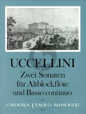 Uccelini 2 Sonaten Op. 4 No. 9-10 Altblockflöte und Bc (Martin Nitz)