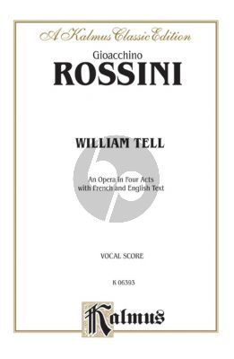 Rossini William Tell (Guillaume Tell) Vocal Score (engl./fr.)