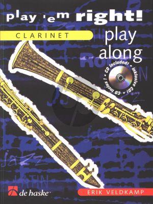 Veldkamp Play 'em Right - Play Along for Clarinet (Bk-Cd) (grade 3)