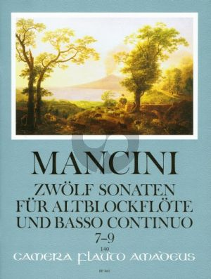 Mancini 12 Sonaten Vol.3 (No.7 - 9) Altblockflöte[Flöte/Oboe]-Bc (Winfried Michel)