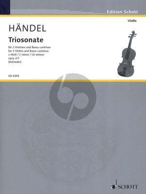 Handel Triosonate c-Moll Op.2 No.1 HWV 386b 2 Violinen[Flote.Violine] und Bc (herausgegeben von Walter Kolneder)