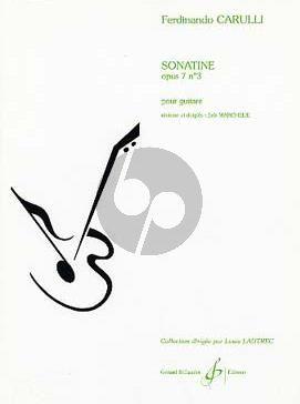 Carulli Sonatine Op.7 No.3 Guitare (Difficile [7]) (Erik Marchelie)