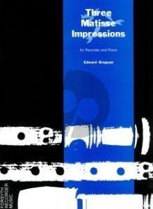 Gregson 3 Matisse Impressions Treble Recorder and Piano