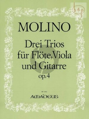 3 Trios Op.4 Flute-Viola-Guitar